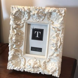 Shabby Chic white picture frame. French Provincial
